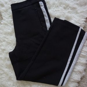 Forever 21 Pants & Jumpsuits - forever 21 stripped side cropped black pants sz M